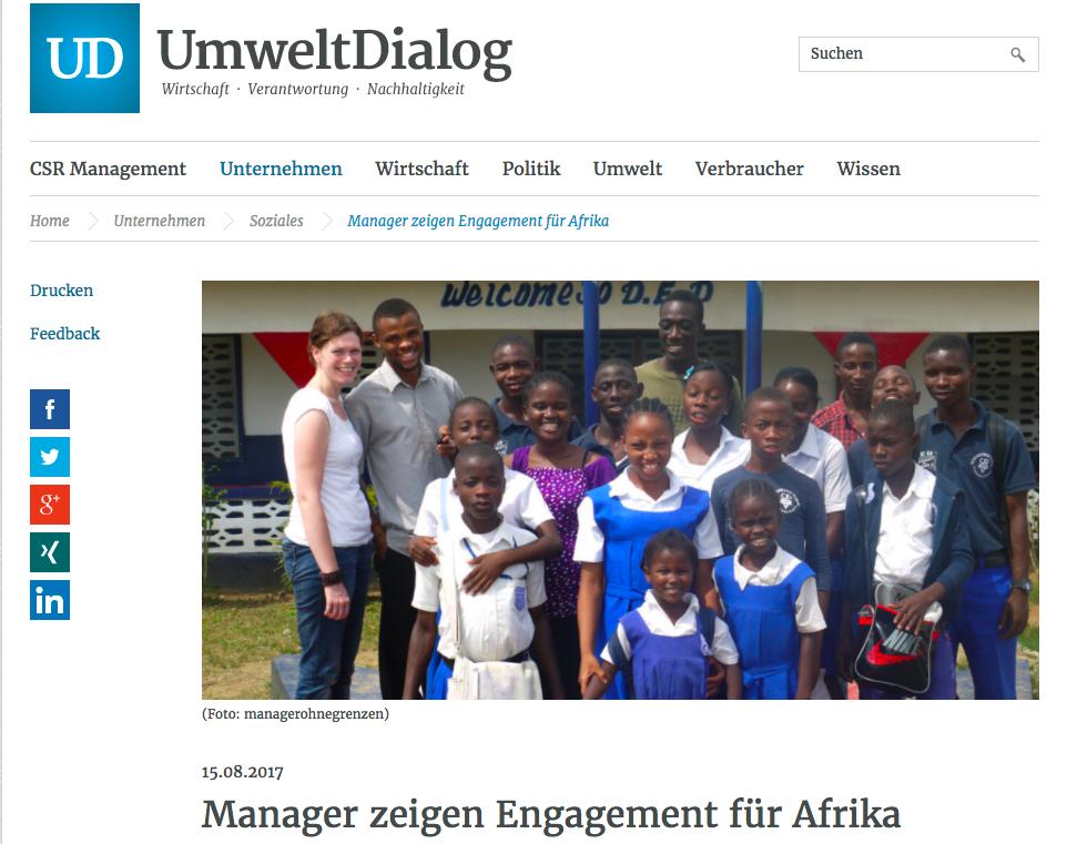 Umwelt Dialog Manager zeigen Engagement für Afrika